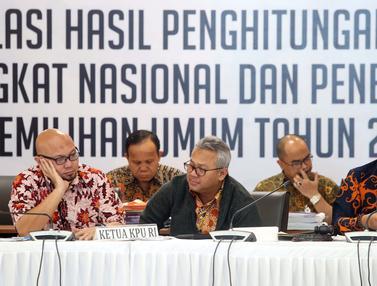 KPU Rekap Hasil Penghitungan Suara dari Papua Barat dan DKI Jakarta