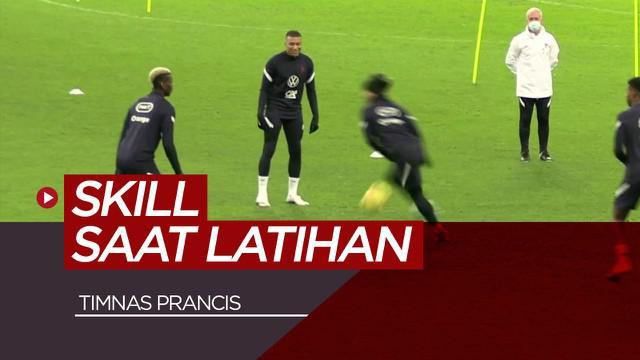 Berita video mengintip skill Paul Pogba dkk saat sesi latihan Timnas Prancis jelang lawan Swedia di UEFA Nations League.