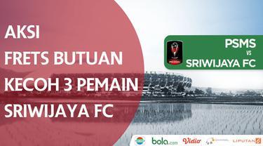Berita video aksi pemain PSMS Medan, Frets Butuan, mengecoh 3 pemain Sriwijaya FC dalam laga Grup A Piala Presiden 2018, Jumat (26/1/2018).