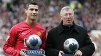 Cristiano Ronaldo dan Sir Alex Ferguson (PAUL ELLIS / AFP)