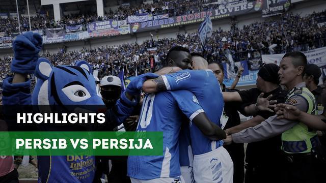 Persib Bandung menang dramatis atas Persija Jakarta setelah menang 3-2 dalam laga pekan ke-23 GO-Jek Liga 1 2018 bersama Bukalapak, di Stadion Gelora Bandung Lautan Api, Kota Bandung.