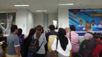 Antrean penumpang pesawat di Bandara Juwata, Kota Tarakan. (Ady Anugrahadi/Liputan6.com)