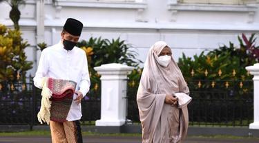 Presiden Joko Widodo atau Jokowi melaksanakan Salat Idul Fitri