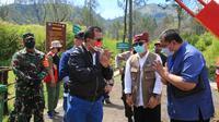 Badan Koordinasi Wilayah (Bakorwil) V Jatim dan Balai Besar Konservasi Sumber Daya Alam (BBKSDA) Jatim saat pembukaan Taman Wisata Alam Kawah Gunung Ijen.