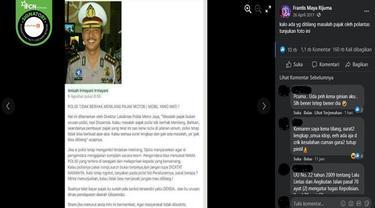 Gambar Tangkapan Layar Kabar tentang Polisi Tak Berhak Menilang Kendaraan yang Pajaknya Mati (sumber: Facebook)