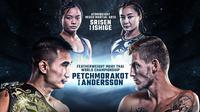 Duel panas Atomweight Mixed Martial Arts dan Featherweight Muay Thai World Championship dalam ONE: A NEW BREED III (Foto: Istimewa)
