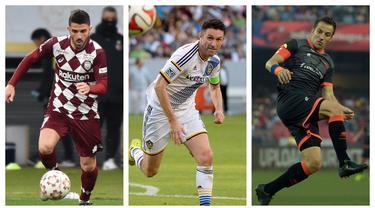 Sepak bola ada dimana saja. Lima benua di muka bumi ini memiliki kompetisi tersendiri dengan ciri khas masing-masing. Para pemain top Eropa berikut berpetualang keluar dari Eropa untuk mencicipi atmosfer kompetisi yang berbeda. Siapa saja mereka? (Kolase Foto AFP)