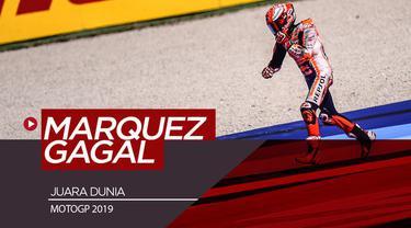 Berita video skenario terburuk bagi Marc Marquez di MotoGP 2019 adalah gagal juara dunia. Skenario seperti apa yang bisa menyebabkan Marquez gagal?