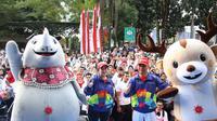 Menteri Koordinator Bidang Pembangunan Manusia dan Kebudayaan (Menko PMK) Puan Maharani, mengajak para karyawan Kemendikbud untuk mendukung Asian Games 2018