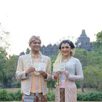 Pernikahan Vicky Shu dan Ade Imam. (Instagram/brutusrumahmode)
