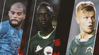 Liga 1 - Bintang Liga 1 Bernilai Tinggi: David da Silva, Makan Konate, Petteri Pennanen (Bola.com/Adreanus Titus)