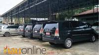Mobil dinas yang dikembalikan dari anggota DPRD Inhil sudah dua bulan ada di parkiran. (Riauonline.co.id)