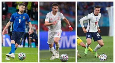 Foto kolase pemain Chelsea yang negaranya tampil di semifinal Piala Eropa 2020. (Foto: AFP & AP)