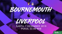 Premier League - AFC Bournemouth Vs Liverpool (Bola.com/Adreanus Titus)