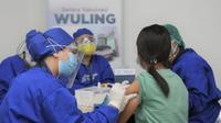 Wuling Motors menggelar sentral vaksinasi Covid-19 yang terbuka untuk umum berlokasi di lantai 3 Mal Kelapa Gading 5, Jakarta Utara. (Foto Dok. Wuling)