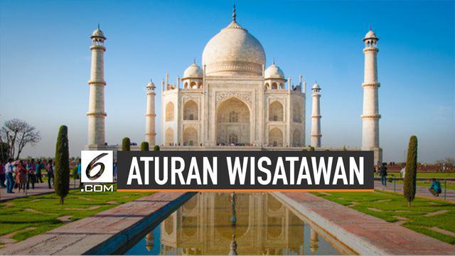 Aturan Baru Bagi Wisatawan Taj Mahal, India