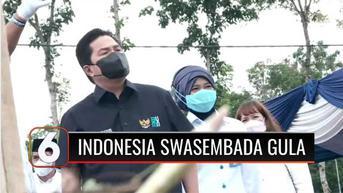 VIDEO: Tinjau Industri Gula, Menteri BUMN Erick Thohir Targetkan Genjot Produksi demi Indonesia Swasembada Gula