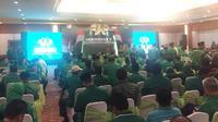PPP menyelenggarakan Musyawarah Kerja Nasional (Mukernas) ke-5 di Grand Sahid Jaya, Jakarta. (Mrdeka/Muhammad Genantan Saputra)