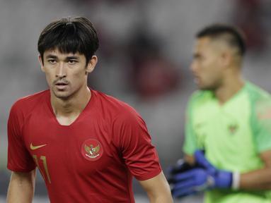 Bek Timnas Indonesia, Gavin Kwan, saat melawan Timor Leste pada laga Piala AFF 2018 di SUGBK, Jakarta, Selasa (13/11). Indonesia menang 3-1 atas Timor Leste. (Bola.com/M. Iqbal Ichsan)