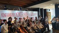 Ribuan seniman dan berbagai kelompok komunitas siap meramaikan kampanye akbar Jokowi-Ma'ruf Amin. (Liputan6.com/Nanda Perdana Putra)