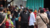 Presiden Jokowi memantau vaksinasi di Cilacap. (Foto: Liputan6.com/Kominfo Cilacap)