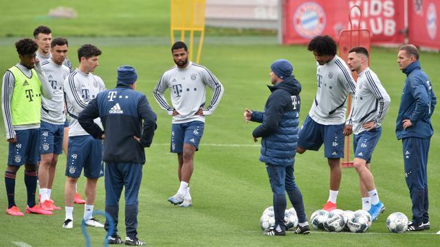 FOTO: Intip Latihan Pemain Bayern Munchen di Tengah Pandemi COVID-19