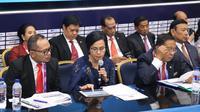 Menteri Ketenagakerjaan M. Hanif Dhakiri memaparkan capaian dan target kinerja bidang Ketenagakerjaan di acara Konperensi Pers RAPBN 2019.