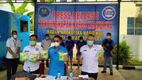 5 Kilogram (Kg) sabu disita Badan Narkotika Nasional Provinsi (BNNP) Sumut