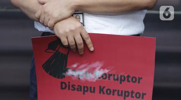 Aksi Unjuk Rasa Pegawai KPK Nonaktif Bersama Pegiat Anti Korupsi