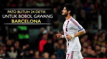 Video gol yang dicetak Alexandre Pato saat masih membela AC Milan hanya butuh 24 detik membobol gawang Barcelona