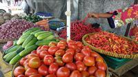 Pantauan pasar harga cabai (Foto:Liputan6.com/Maulandy R)