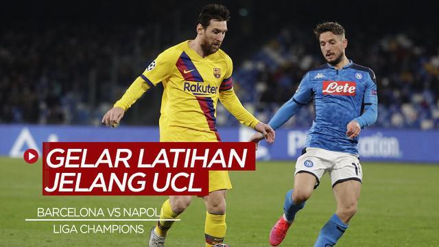 Berita Video Barcelona Siap Hadapi Napoli di Babak 16 Besar Liga Champions, Lionel Messi Ikut Sesi Latihan