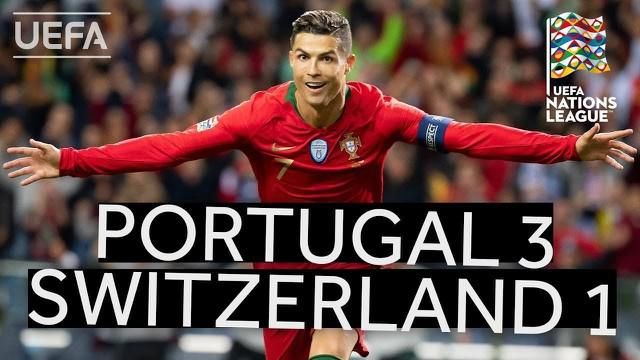 Berita video highlights UEFA Nations League, Portugal vs Swiss, Kamis (6/6/2019) di Stadion do Dragao, Portugal.