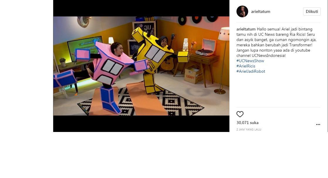 Ariel Tatum jadi transformers (Foto: Instagram)