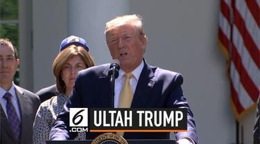 Presiden Donald Trump berulang tahum ke-73. Sejumlah tamu undangan menyanyikan lagu ulang tahun untuknya di gedung putih.