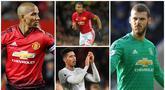 Enam tahun sudah pelatih legendaris Setan Merah, Sir Alex Ferguson, meninggalkan Manchester United. Namun, ternyata ada lima pemain era Sir Alex yang masih bertahan di skuat Setan Merah saat ini. (Foto Kolase AP, EPA dan AFP)
