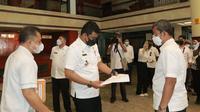 Wali Kota Medan, Bobby Nasution, meninjau langsung hotel yang akan dijadikan lokasi isolasi tersebut pada Rabu, 14 Juli 2021