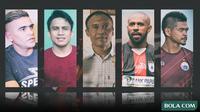 Trivia - 5 Penyerang Lokal Paling Ganas di Sepak Bola Indonesia (Bola.com/Adreanus Titus)
