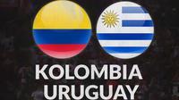 Kualifikasi Piala Dunia - Kolombia Vs Uruguay (Bola.com/Adreanus Titus)