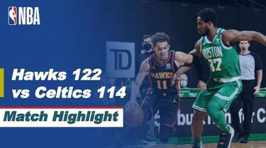 Berita video highlights NBA, Atlanta Hawks menang atas Boston Celtics dengan skor 122-114, Kamis (18/2/21)