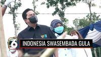 Menteri BUMN Erick Thohir meninjau kegiatan vaksinasi di pondok pesantren di Banyuwangi, Jawa Timur. Selain vaksinasi Covid-19, Menteri BUMN juga menargetkan swasembada gula akan tercapai dalam beberapa tahun ke depan.