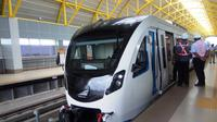 LRT Palembang akan menjadi salah satu moda transportasi yang wajib ditumpangi ASN Palembang sebulan sekali (Liputan6.com / Nefri Inge)