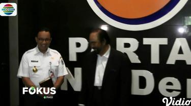 Pertemuan dilakukan bersamaan waktunya dengan pertemuan antara Megawati dan Prabowo Subianto di Menteng, Jakarta Pusat.