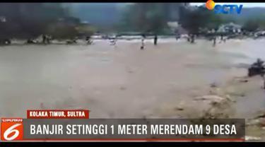 Banjir disebabkan hujan yang mengguyur kawasan ini sepanjang malam