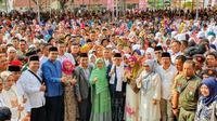 Cawapres Maruf Amin menghadiri tabligh akbar di Sumut. (Liputan6.com/Putu Merta Surya Putra)