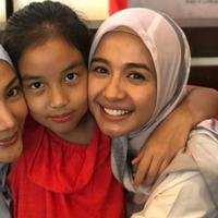 Erra Fazira senang merayakan ulang tahunnya bersama Laudya Cynthia Bella dan Aleesya (Instagram/@errafazira)