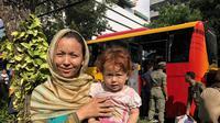 Pencari suaka di Kebon Sirih direlokasi oleh Pemprov DKI. (Liputan6.com/Ratu Annisaa Suryasumirat)