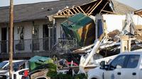 Ilustrasi kerusakan akibat hantaman tornado (AP/Bryan Terry)