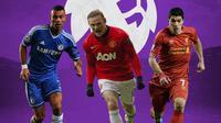 Premier League - Ashley Cole, Wayne Rooney, Luis Suarez (Bola.com/Adreanus Titus)