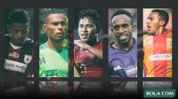 Trivia - Osvaldo Haay, Ruben Sanadi, Terens Puhiri, Ricky Kayame, Friska Womsiwor (Bola.com/Adreanus Titus)